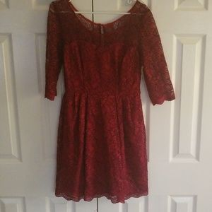 EUC Betsey Johnson lace dress with 3/4 sleeves